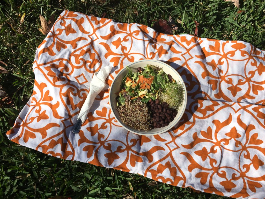 Black Bean Quinoa and Salad