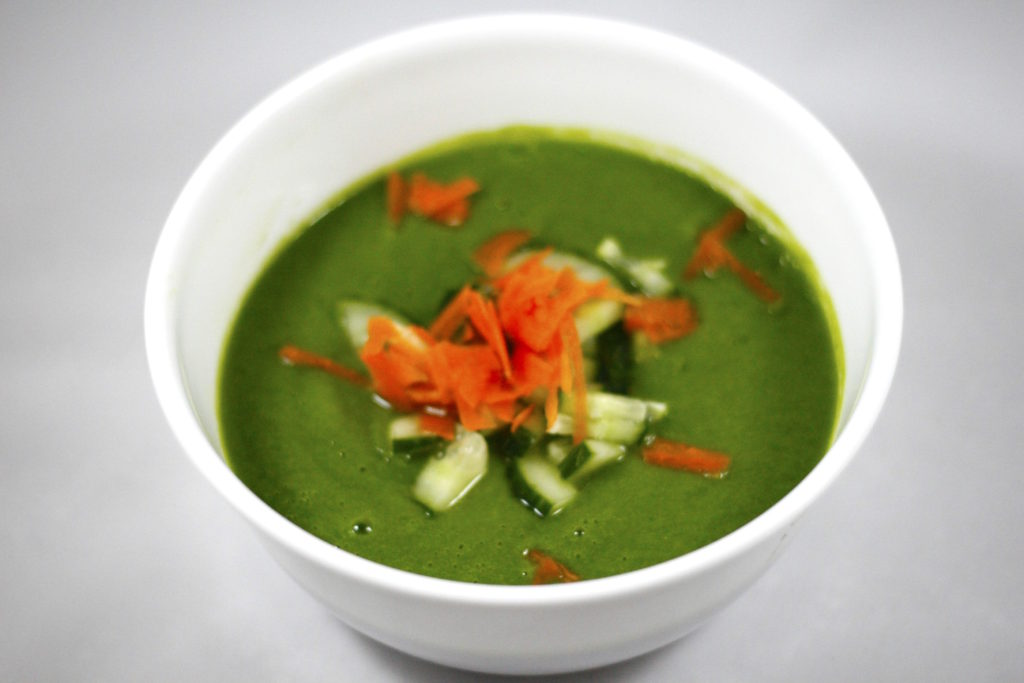 Spinach cauliflower soup