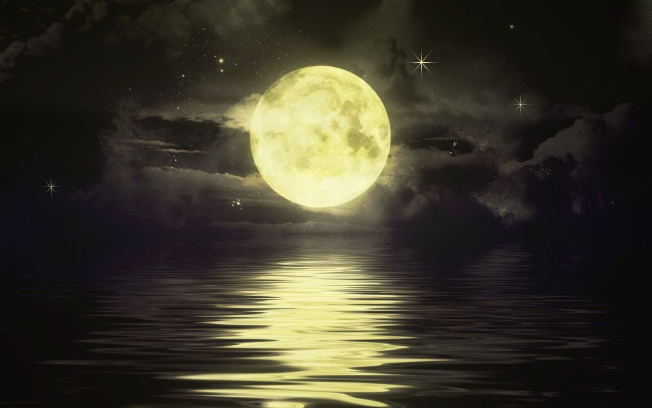 Image result for sun gives light to moon wallpapers